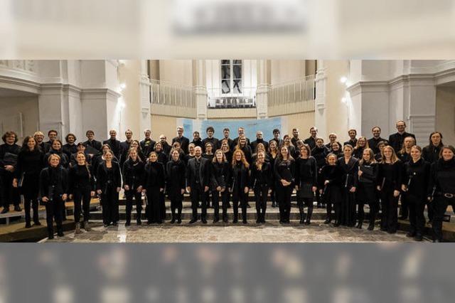 Die Evangelische Studentenkantorei singt Heinrich Schütz in Schopfheim und Freiburg