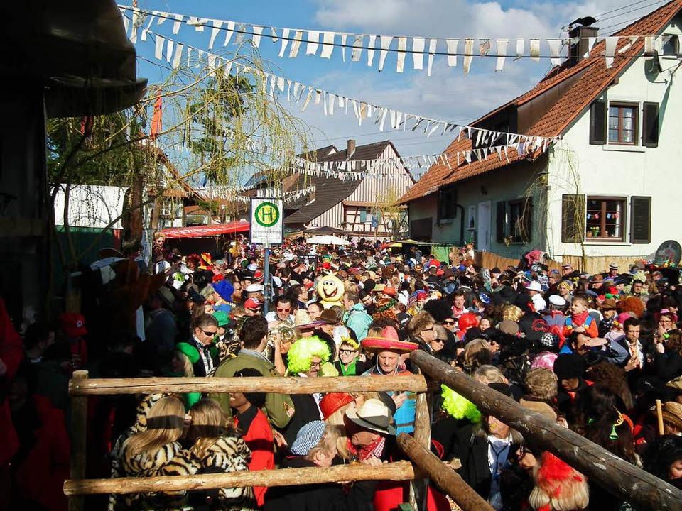 Jedes Jahr am Fasnachtssonntag verwand...fasnacht mt mehr als 10.000 Besuchern.  | Foto: Fasentgemeinschaft Freies Montenegro