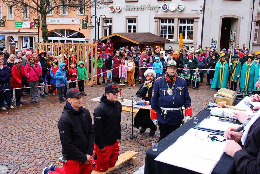Das Narrengericht in Todtnau kennt kein Erbarmen.  | Foto: Narrenzunft Todtnau