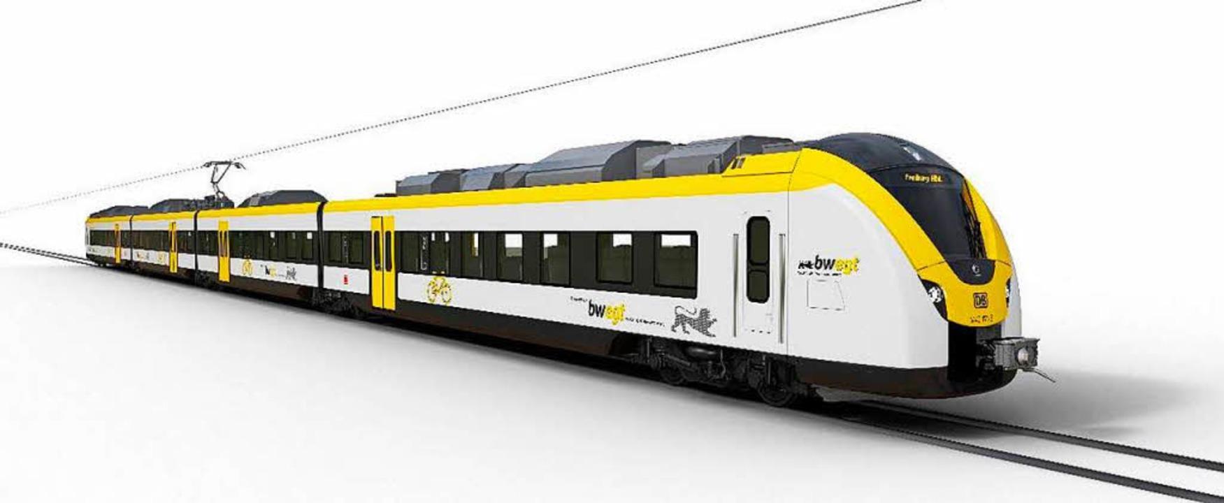 So werden die Züge auf der Höllentalbahn künftig aussehen.  | Foto: Bahn