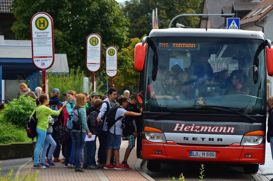 ...wie auch in Himmelreich werden  die... der Bauphase werden Busse eingesetzt.  | Foto: Markus Donner