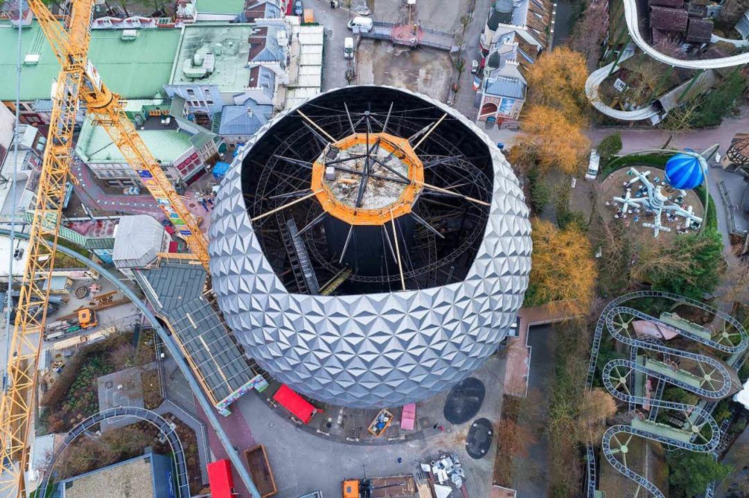 Die Eurosat-Baustelle aus der Vogelperspektive.  | Foto: Bernhard Rein/Europa-Park