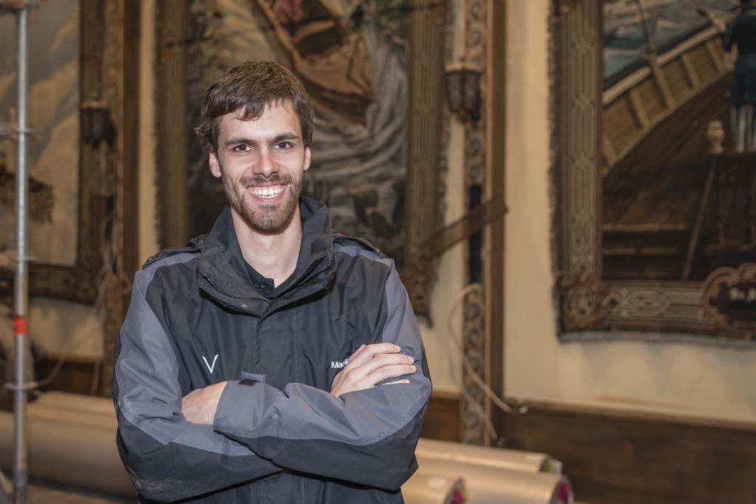 Patrick Marx, einer der Ingenieure der neuen Achterbahn.  | Foto: Bernhard Rein