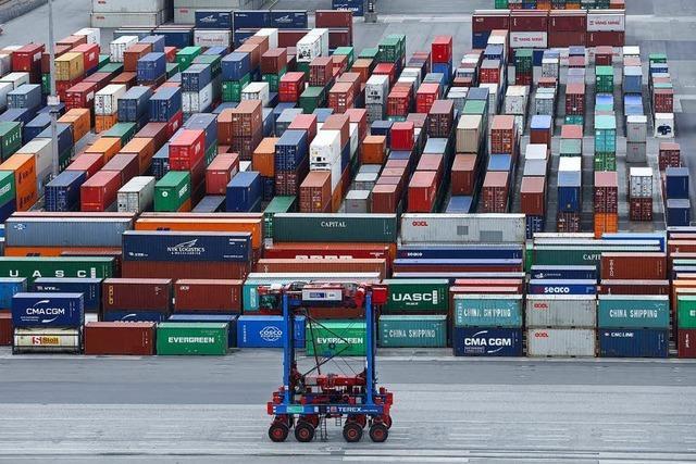 Der Handelsüberschuss sinkt