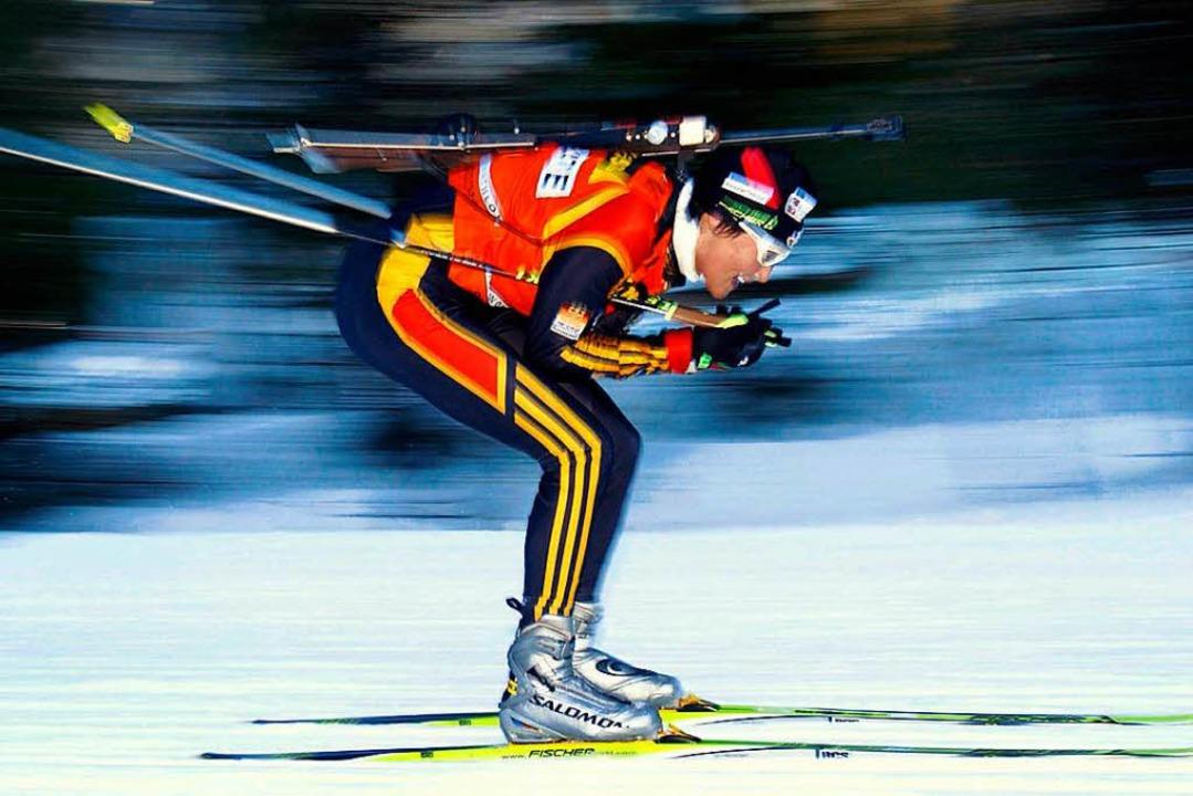 Simone Hauswald – hier noch Denk...03 beim Biathlon-Weltcup in Ruhpolding  | Foto: Ken_Liu