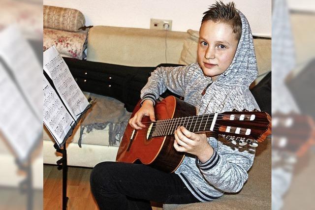 Mit elf Jahren schon ein erfolgreicher Gitarrist