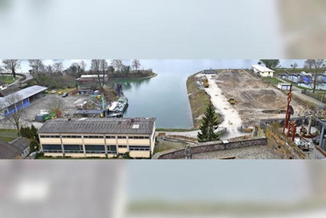 Wasser- und Schifffahrtsamt baut an der Nordseite des Bauhafens