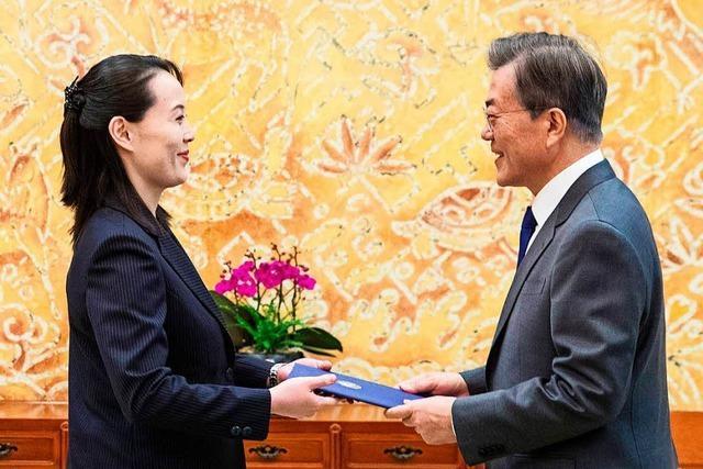 Schwester von Kim Jong Un lädt südkoreanischen Präsidenten Moon Jae In ein