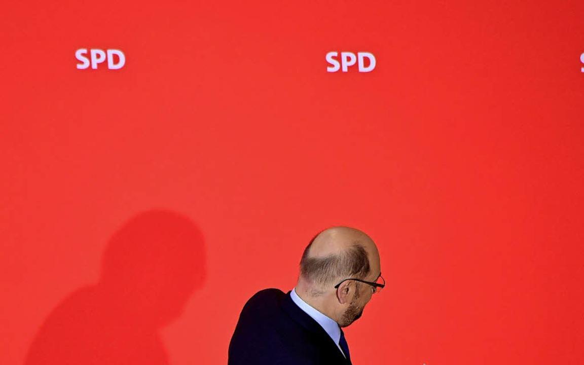 Musste gehen, weil er das Glaubwürdigk...blem der SPD verkörpert: Martin Schulz  | Foto:  afp