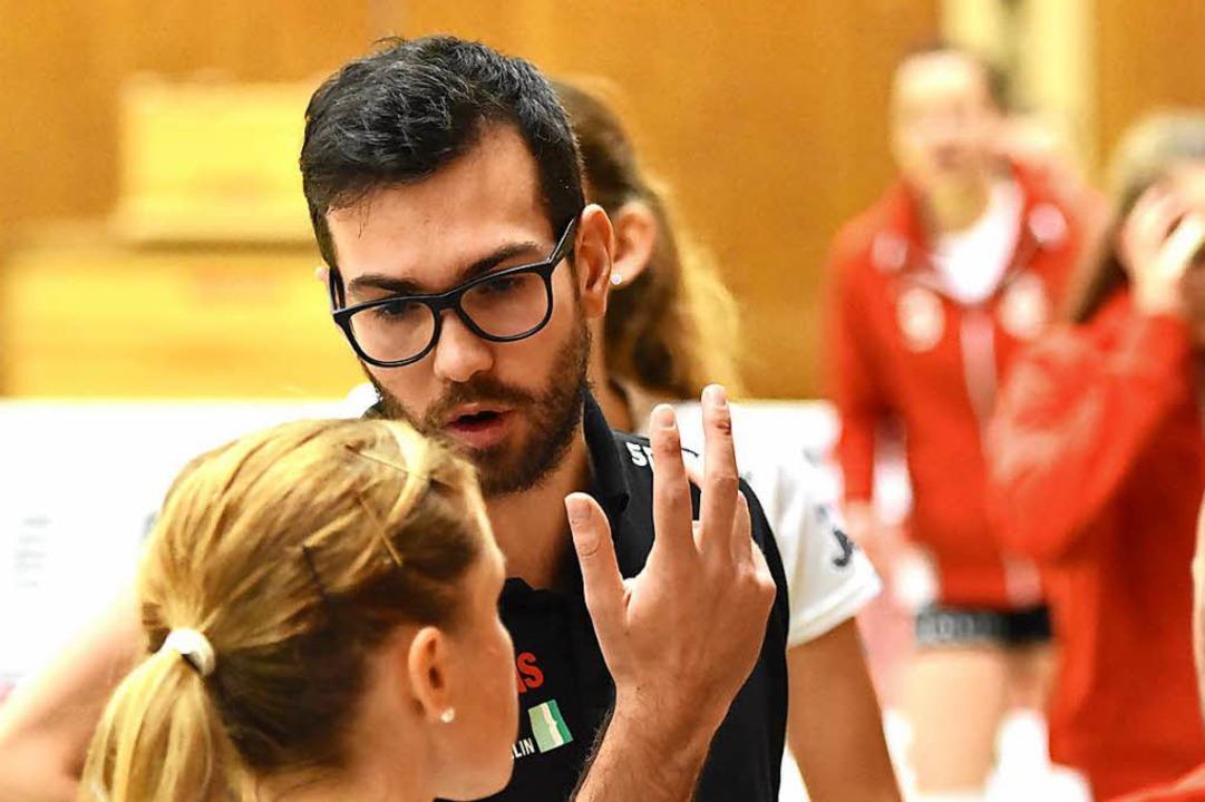 Florian Völker im Gespräch mit Richarda Zorn (Archivfoto)     Foto: Sebastian Köhli