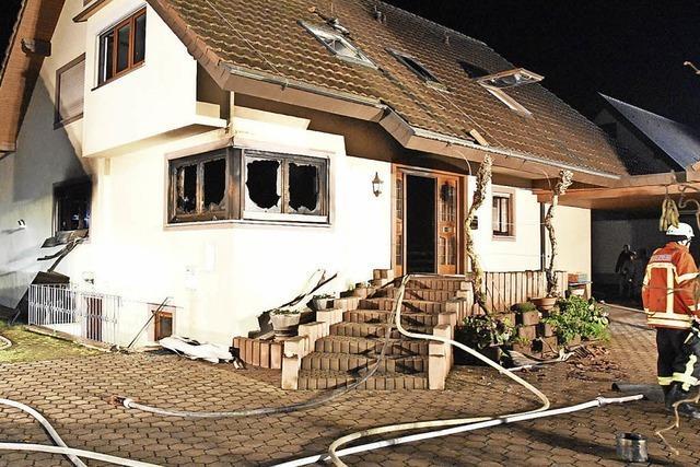 Küchenbrand verwüstet Wohnhaus in Merdingen