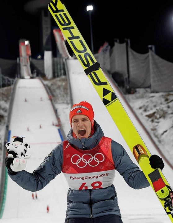 Arschkalt und windig wie Sau: Andreas ...s kaum fassen, er ist Olympiasieger.    | Foto: dpa