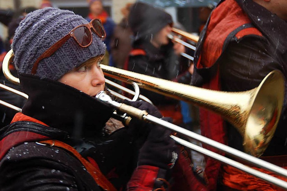 """Auch die """"Hüttä-Rüttler"""" trotzen dem Schnee. (Foto: Jutta Binner-Schwarz)"""