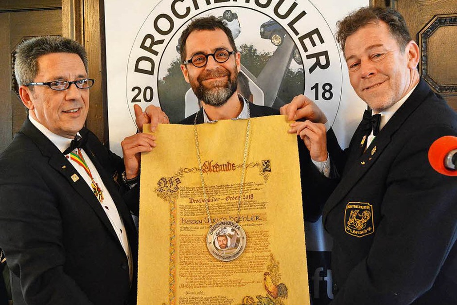Ulrich Höhler erhielt den Drochenhüüler-Orden. (Foto: Barbara Ruda)