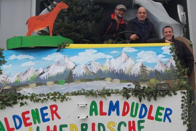 Die Aldener Ilwedridsche sind dieses Jahr als Almdudler unterwegs