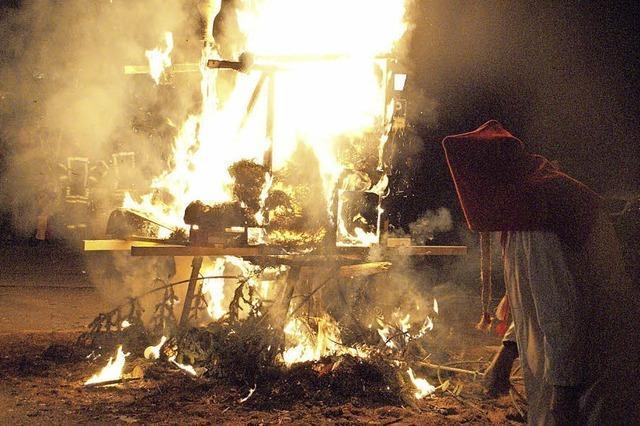 Ende der Fasnacht: Böög und Bantle werden am Vorabend des Aschermittwoch dem Feuer übergeben