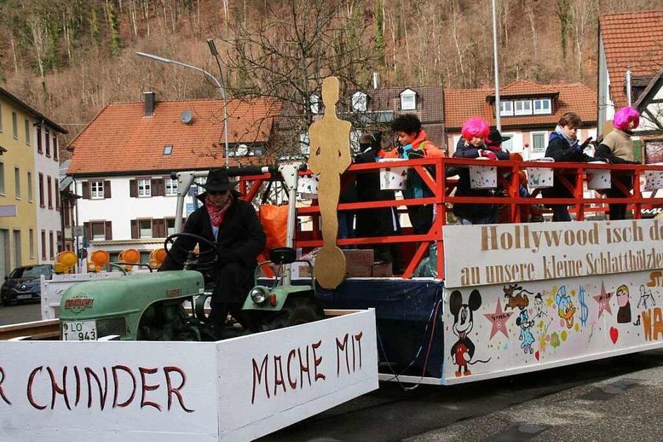 Der Jugendwagen des Schlattholz-Zinkens war Teil des Kinderumzugs in Schopfheim (Foto: Marlies Jung-Knoblich)