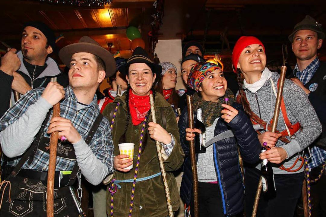 Bergsteiger schnurrten als Seilschaft.  | Foto: Eva Korinth