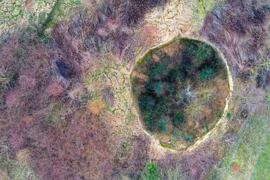 Das Loch im Februar 2018, fotografiert mit einer Drohne  | Foto: Matthias Weniger