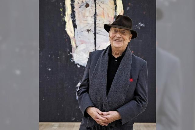 Der 80-jährige Künstler Georg Baselitz spircht in der Foundation Beyeler in Riehen über Leben und Werk