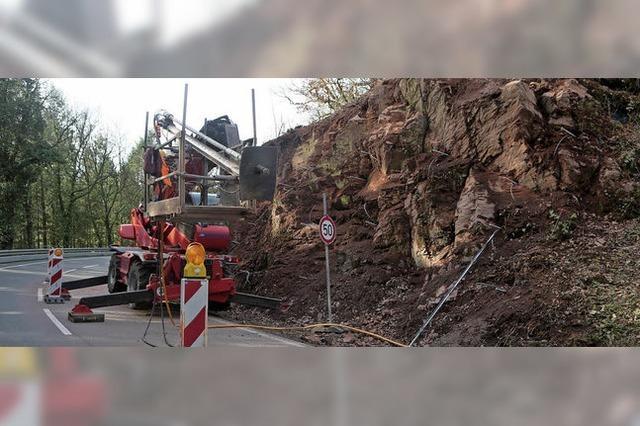 Felsarbeiten an der B 415 dauern länger
