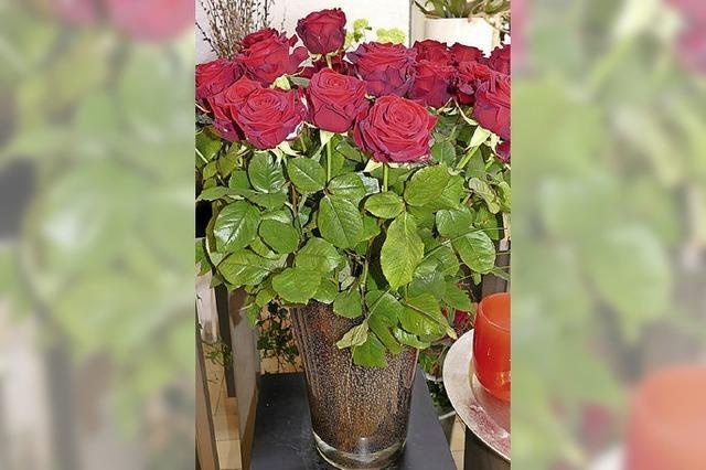 Teure Rosen zum Tag der Liebe