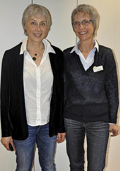 Waltraud Kannen (links) und Simone Mehler   | Foto: Rainer Ruther