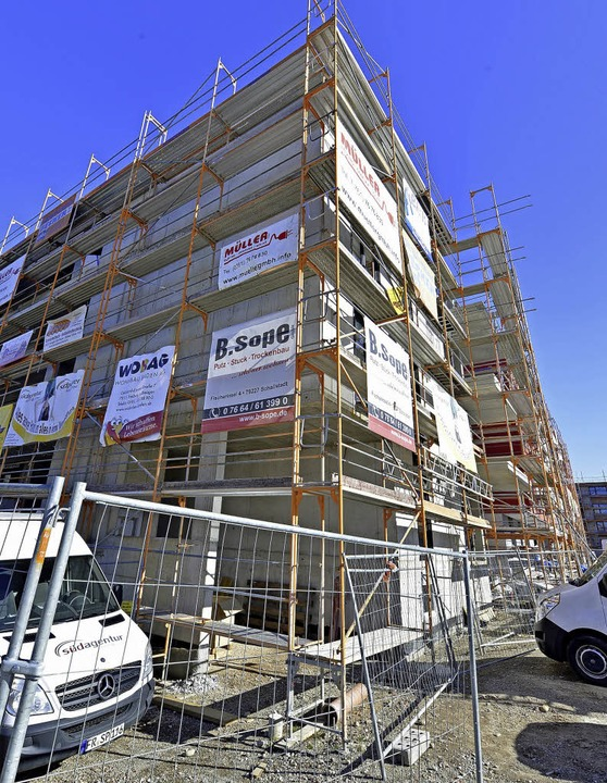 Neubau des Mietshäusersyndikats mit gü... Wohnungen im Baugebiet  Gutleutmatten  | Foto: Michael Bamberger