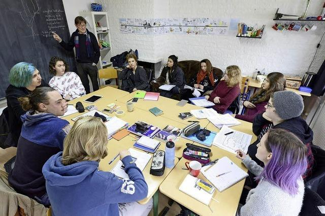 Schüler der autonomen Abi-Lerngruppe