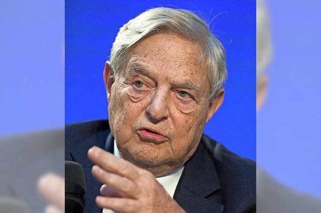 Milliardär Soros spendiert Geld – und erntet Hasstiraden