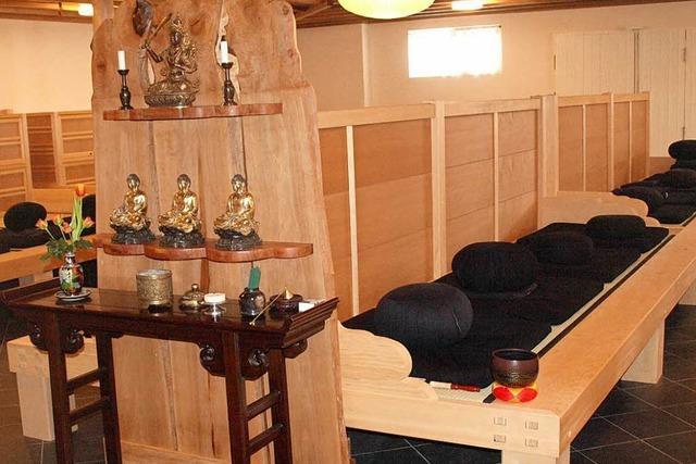 Das buddhistische Studienzentrum in Herrischried hat einen neuen Meditationsraum