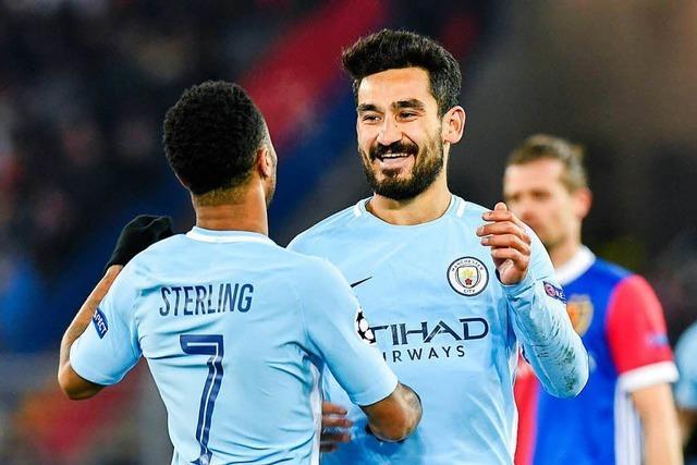 Guardiolas Führungskraft wirkt für Manchester City in Basel