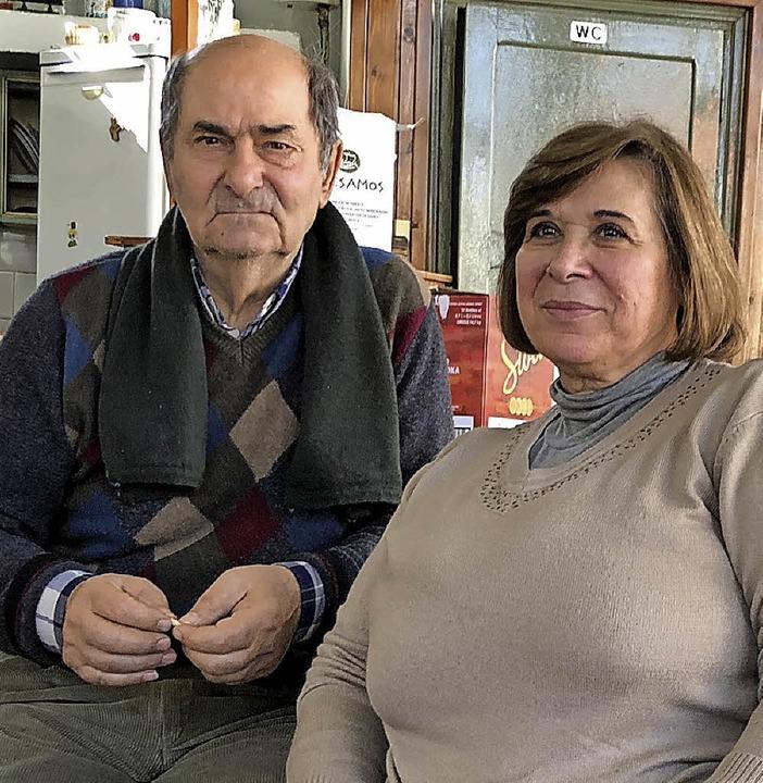 Vasso und ihr Ehemann Stathis trauern um ihr Dorf und ihr ehemaliges Kaffeehaus.  | Foto: höge
