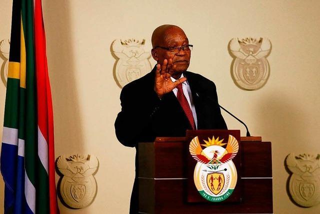 Südafrikas Präsident Zuma kommt mit Rücktritt seinem Sturz zuvor