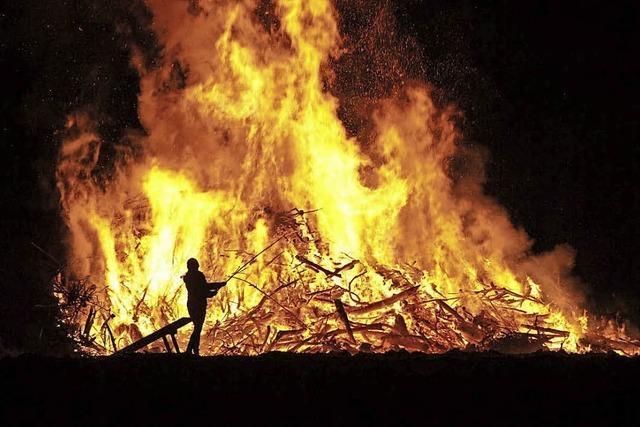 Scheibenfeuer auf den Höhen im Kreis Lörrach