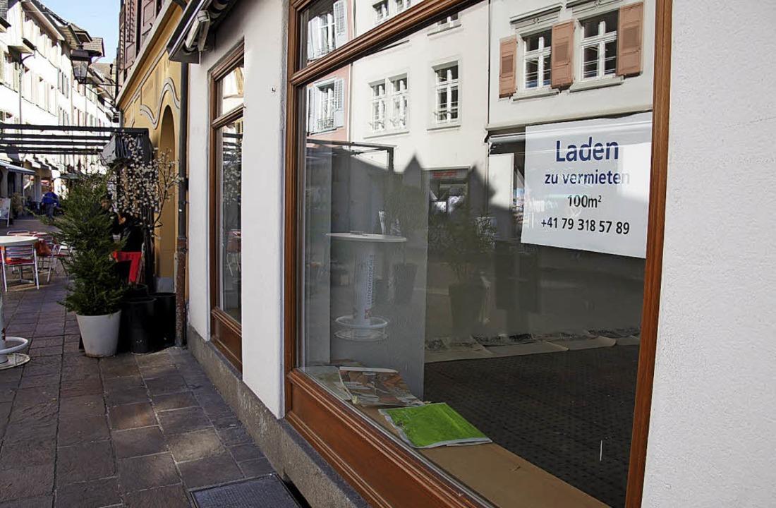 Leerstände treiben die Händler um.   | Foto: Valentin Zumsteg
