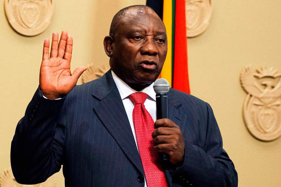 Ramaphosa zum neuen Staatschef gewählt