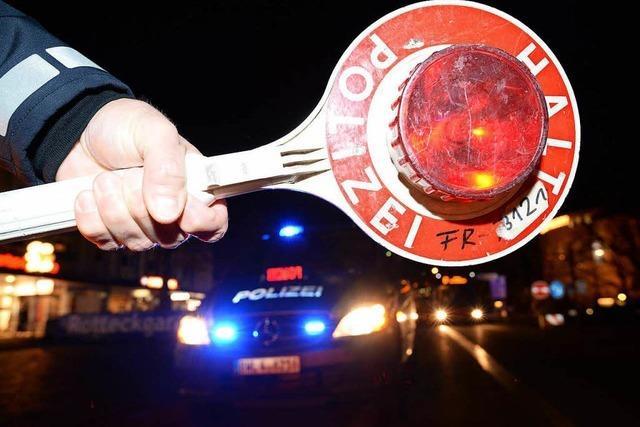 Wieslet: Angetrunkener flüchtet vor Verkehrskontrolle