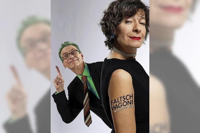 Kabarett-Duo Faltsch Wagoni gibt am Freitag, 23. Februar, Vorstellung im Ali-Theater in Tiengen.