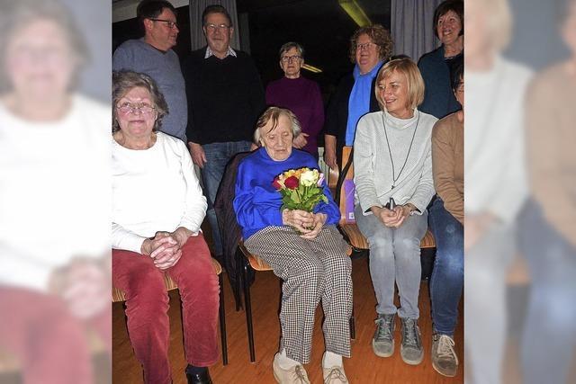 72 Jahre lang sang sie im Chor