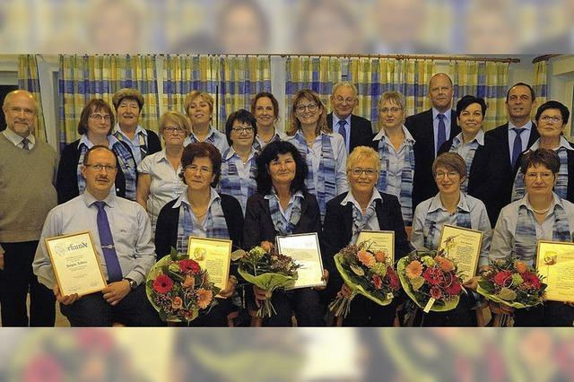 Arbeitsreiches Jahr für den Chor