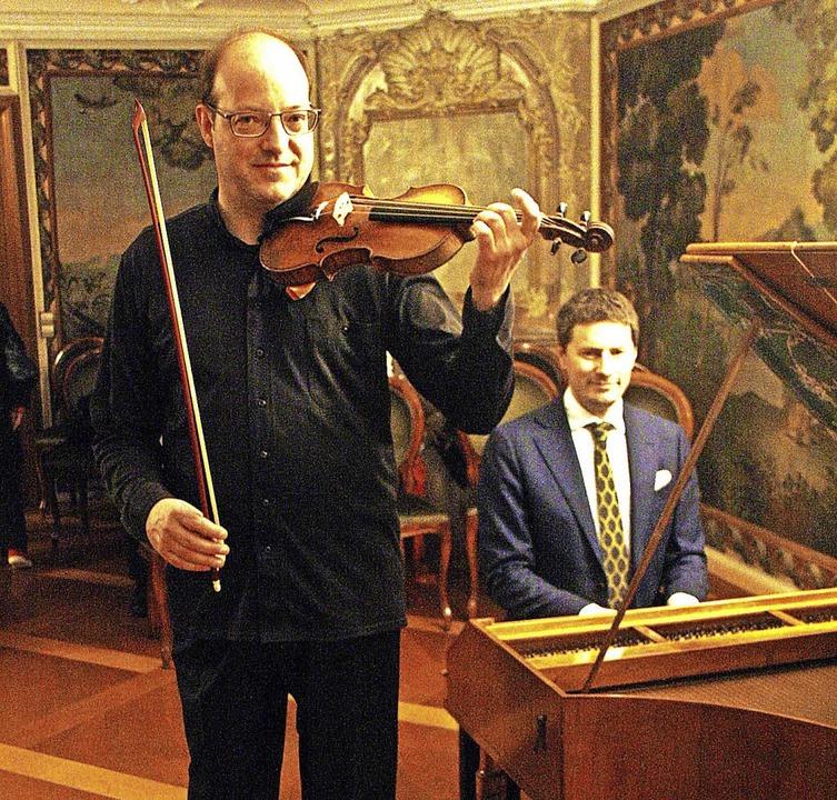 Stephan Schardt, Violine, und Michael ...n Sonaten von Mozart und Zeitgenossen.  | Foto: Hans Jürgen Kugler