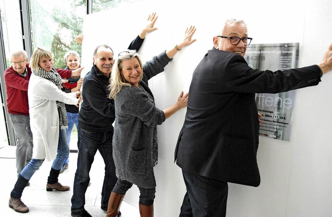 Die (Stell-)Wand im Rathaus muss weg, ...tolpe und Hans-Jörg Jenne (von links).  | Foto: Sylvia-Karina Jahn