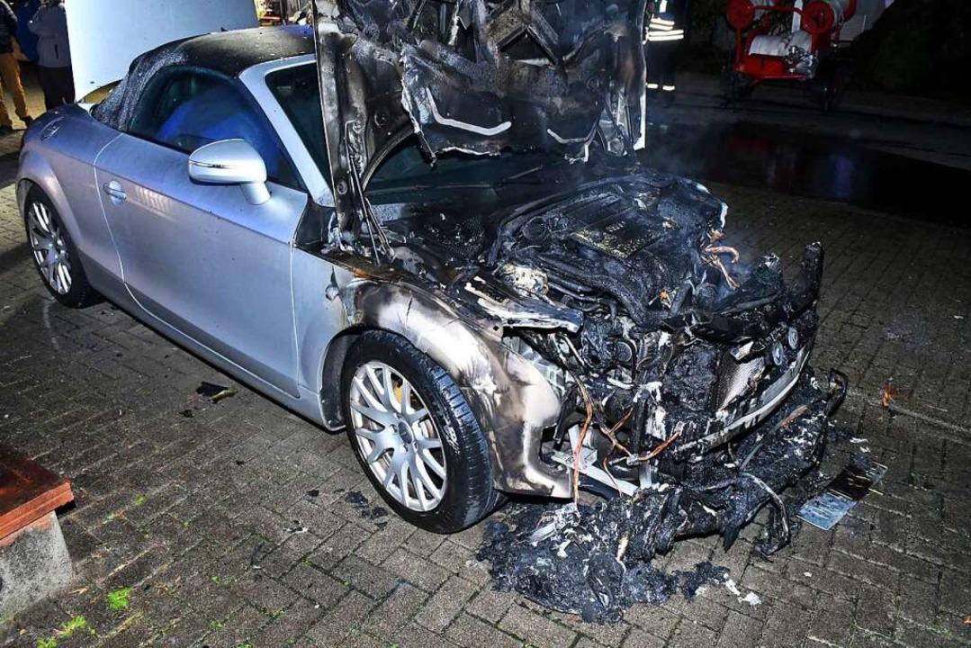 Der Schaden an dem Audi TT beläuft sich auf rund 10.000 Euro.  | Foto: Wolfgang Künstle