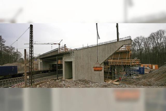 Brückenbaustelle an der L 113 macht Fortschritte