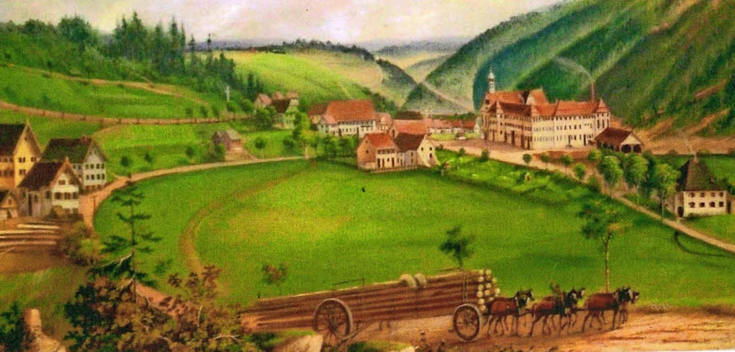 Blick auf das Kloster Friedenweiler – von Nikolaus Ganter   | Foto: Repro: PRIVAT