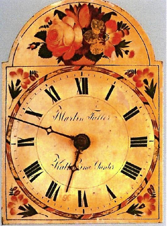 Uhrenschild von 1839  | Foto: privat