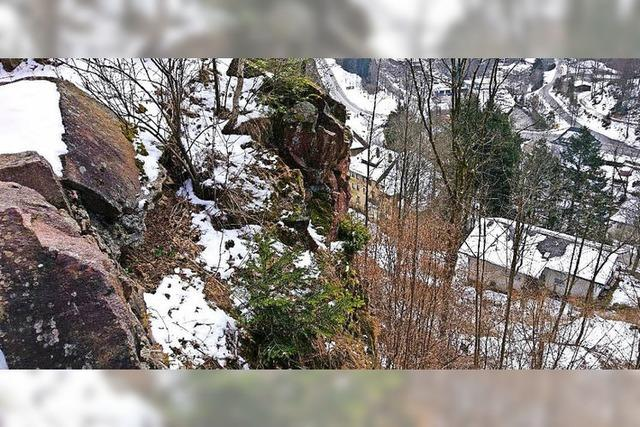Der Fels wird gesichert