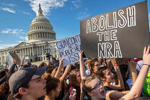 Schüler werden der US-Waffenlobby gefährlich