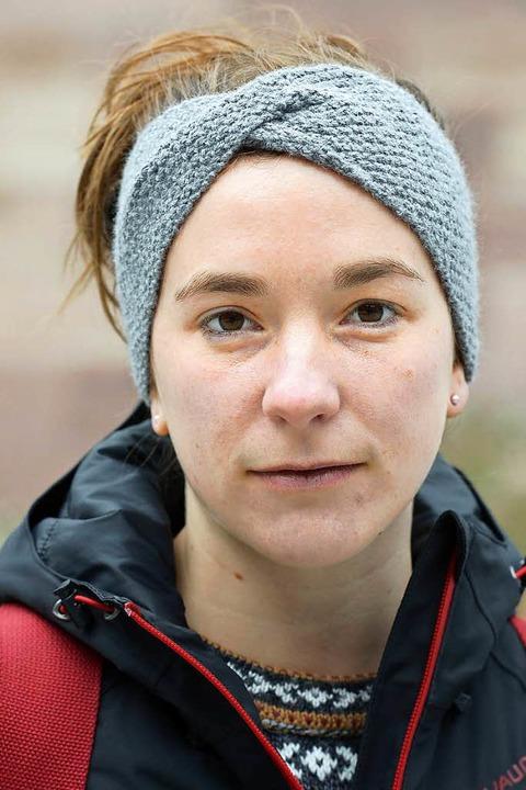 """Ines Greubel, 23, Romanistik/ Islamwis...ich aber gerne mehr engagieren.""""    Foto: Ingo Schneider"""